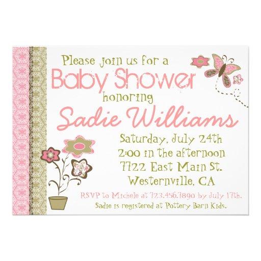 butterflies baby shower invitation 5 x 7 invitation card za