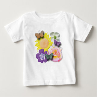 Flowers and Butterflies Baby T-Shirt