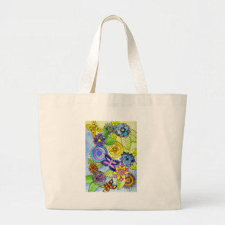 Flowers and Butterflies Canvas Bags