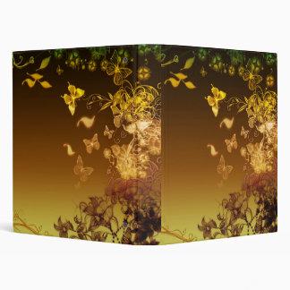 Flowers and Butterflies 3 Ring Binders