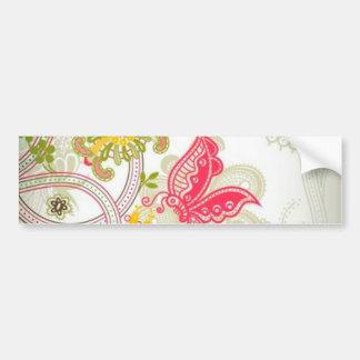 flowers and butterflies bumper sticker