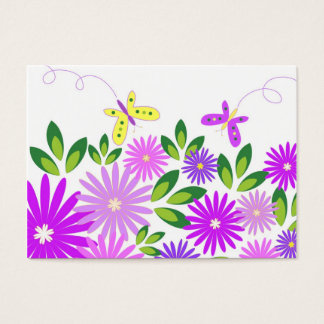 Flowers and butterflies - Business card