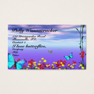 Flowers and Butterflies Business Card