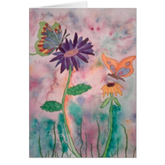Flowers and Butterflies Card