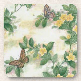 Flowers And Butterflies Coasters
