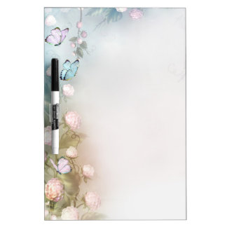 Flowers and butterflies Dry-Erase board