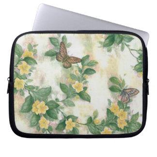 Flowers And Butterflies Laptop Sleeve