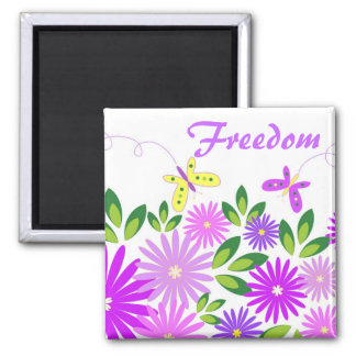 Flowers and butterflies - Magnet