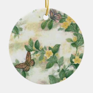Flowers And Butterflies Ornament