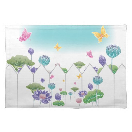 Flowers and Butterflies Placemat