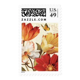 Flowers and Butterflies Postage
