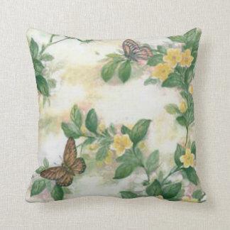 Flowers And Butterflies Reversible Pillow