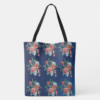 flowers and butterflies tote bag