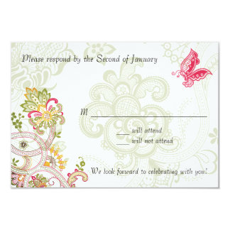 Flowers and Butterfly Card