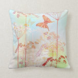flowers and butterfly throw pillows