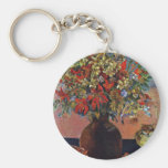 Flowers And Cats By Gauguin Paul (Best Quality) Keychain