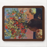 Flowers And Cats By Gauguin Paul (Best Quality) Mouse Pad