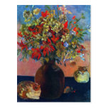 Flowers and Cats by Gauguin, Vintage Impressionism Postcard