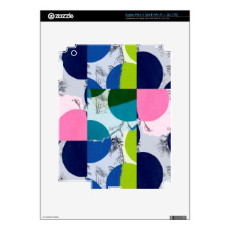 Flowers and circles iPad 3 decal