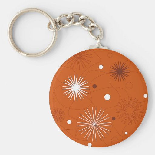 Flowers and circles - Keychain