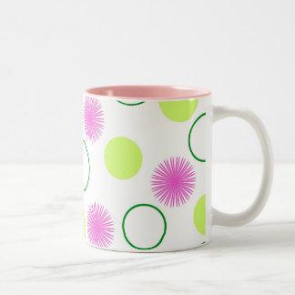 Flowers and circles - Mug