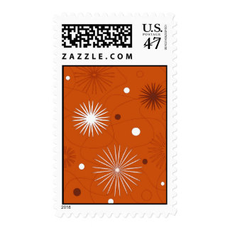 Flowers and circles - Postage