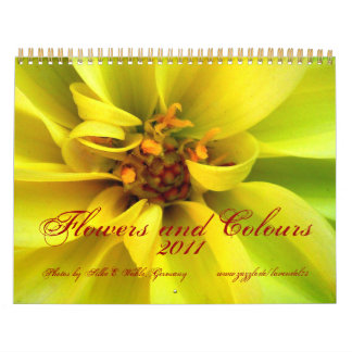 Flowers and Colours - Calendar 2011-Kalender 2011 Calendarios De Pared