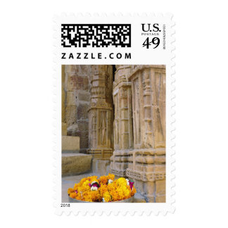 Flowers and columns, Jaisalmer Fort, Jaisalmer, Stamp
