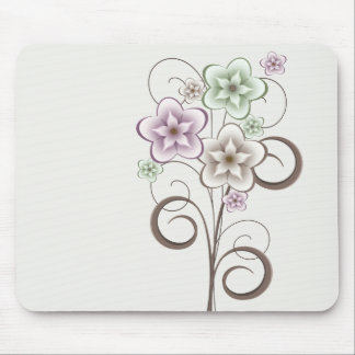 Flowers and Curls Mousepad
