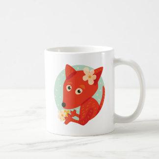 Flowers And Cute Fox Coffee Mug