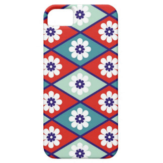 Flowers And Diamonds Pattern iPhone 5 Covers