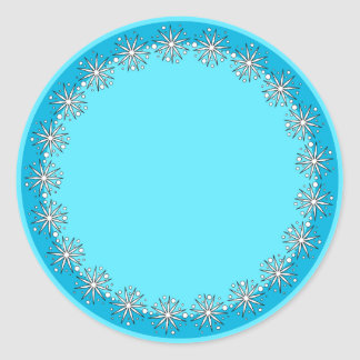 Flowers and dots classic round sticker