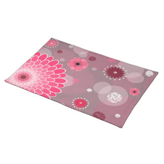 Flowers and Dots Place mat Cloth Placemat