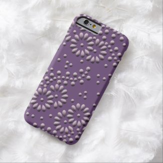 Flowers and dots purple japanese pattern barely there iPhone 6 case