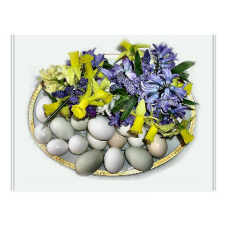 Flowers and Eggs Postcard