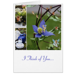 Flowers and fairies card