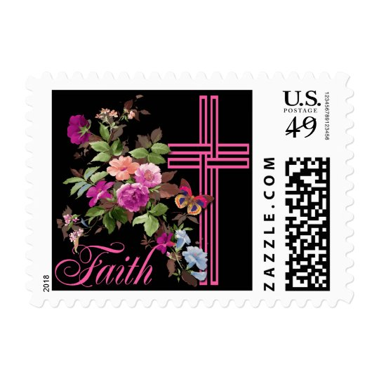 FLOWERS AND FAITH POSTAGE STAMPS