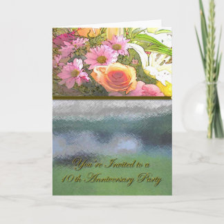 Flowers and Fog 10th Anniversary Card