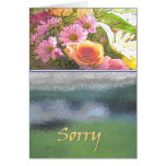 Flowers and Fog Sorry Greeting Cards