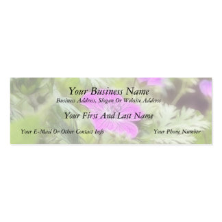 Flowers And Foliage - Hardy Geranium Double-Sided Mini Business Cards (Pack Of 20)