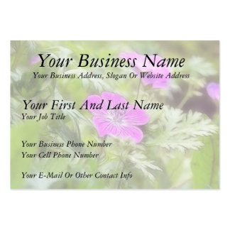Flowers And Foliage - Hardy Geranium Large Business Cards (Pack Of 100)