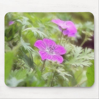 Flowers And Foliage - Hardy Geranium Mouse Pad
