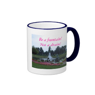 Flowers and fountain, springs of living water coffee mugs