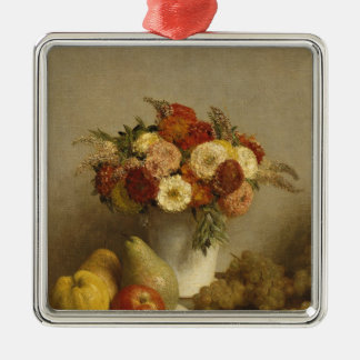 Flowers and Fruit, 1865 Metal Ornament