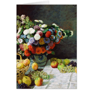 Flowers and Fruit, 1869  Claude Monet Card