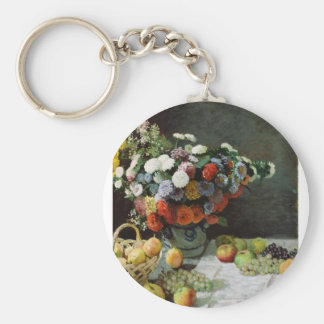 Flowers and fruit (1869) keychain