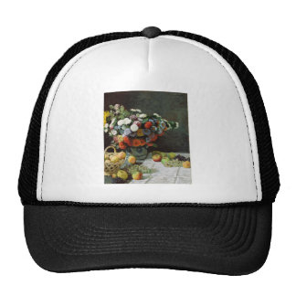 Flowers and fruit (1869) trucker hat