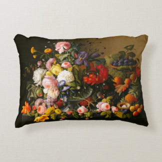 Flowers and Fruit Accent Pillow