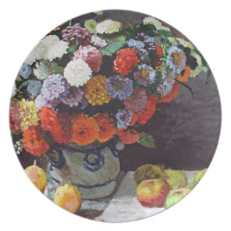 Flowers and Fruit by Claude Monet Plates