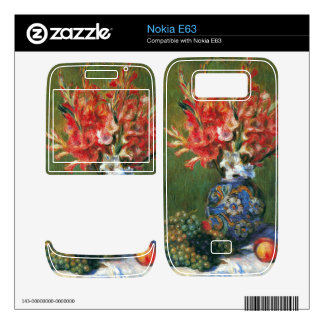 Flowers and Fruit by Pierre Renoir Decal For Nokia E63